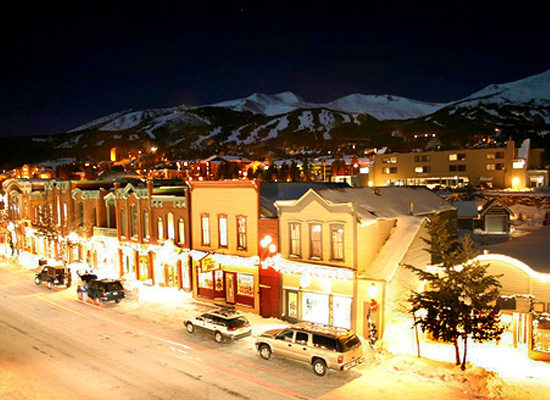 Breckenridge main street at night