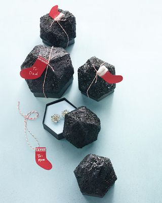Lump of coal gift box