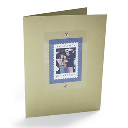 Postage stamp card