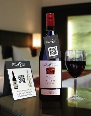 QR code on wine