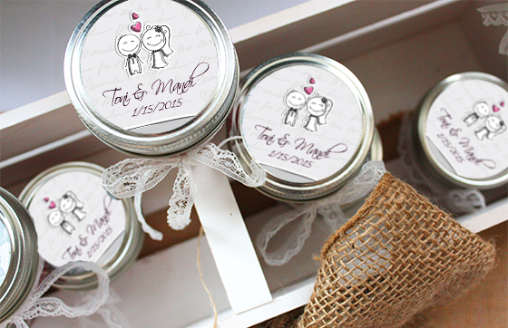 Cute idea for custom wedding favors